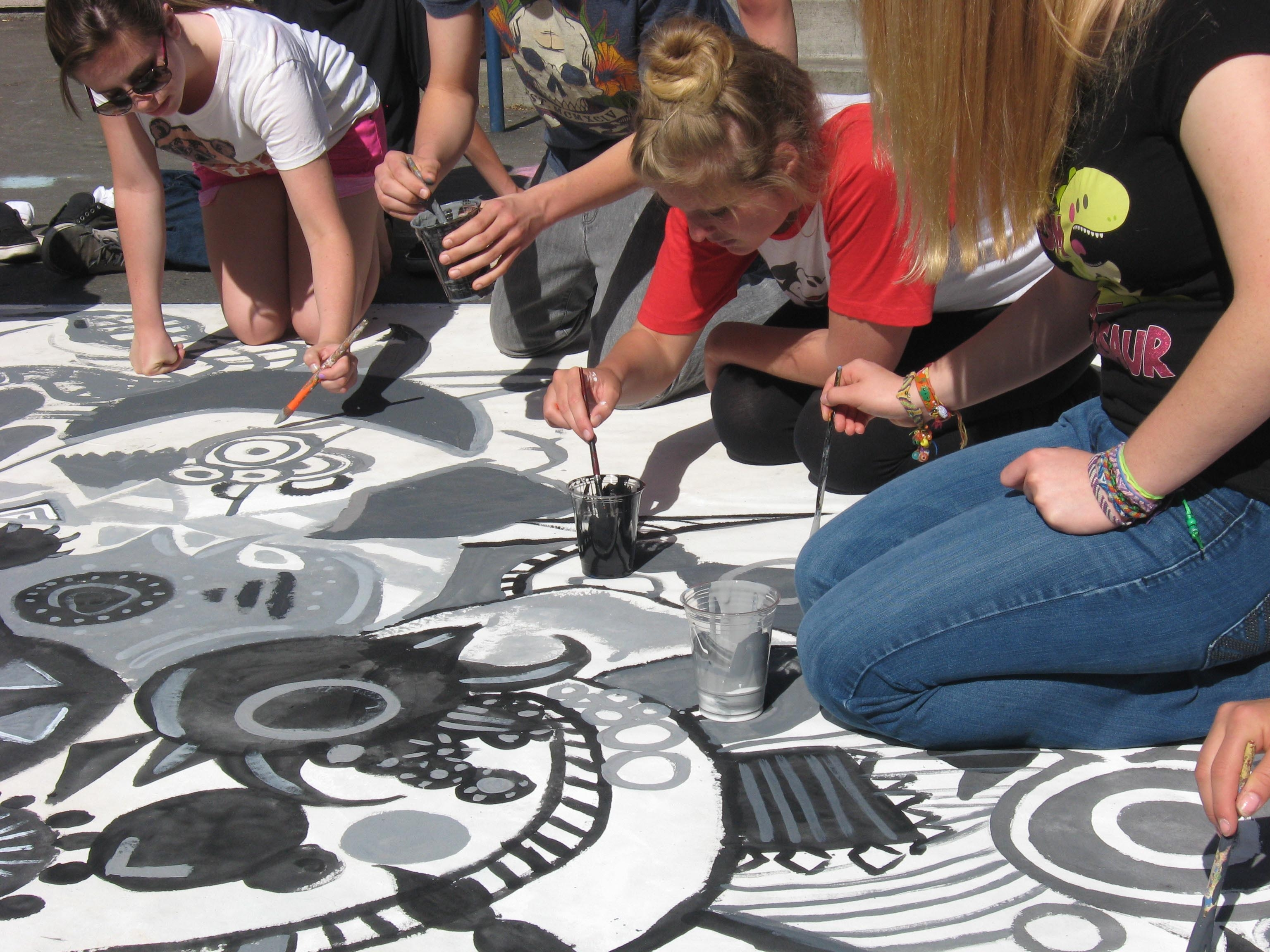artquest  arts charter converge to make painting projects