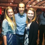 Alexandra McDermott, Free The Children co-founder Craig Keilburger and Megan Klee