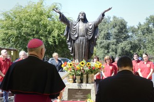 Cardinal Newman staff and students dedicate a new statue of Jesus, By Rory McNamara